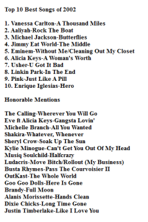 top 10 list worst songs of 2002 nerd with an afro