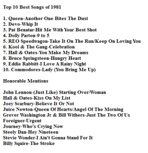 top 10 list worst songs of 1981 nerd with an afro