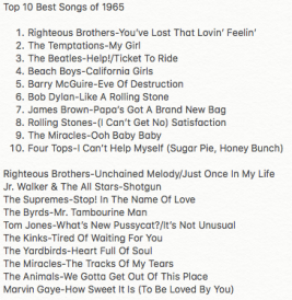 Top 10 List: Worst Songs of 1965 – Nerd With An Afro